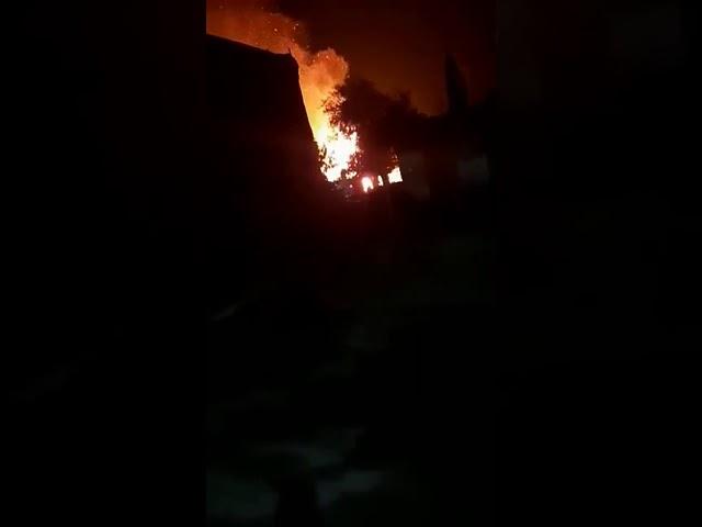 Incendio en La Angostura