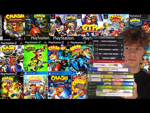 Playing every Crash Bandicoot game in one video