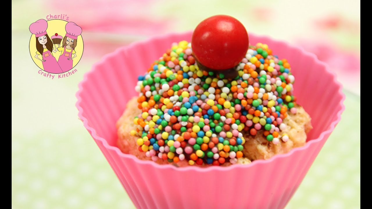 Make an easy CHEAT no bake rainbow sprinkle Cupcake Kids birthday