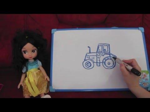 Научиться рисовать видео урок рисования Рисуем просто по шагам трактор
