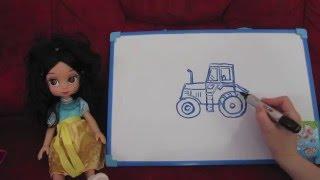 Научиться рисовать видео урок рисования Рисуем просто по шагам трактор(Научиться рисовать видео урок рисования Рисуем просто по шагам трактор Вы умеете рисовать трактор? Не..., 2016-04-01T13:21:49.000Z)