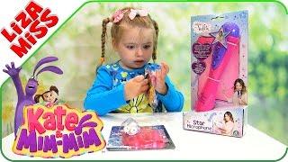 Микрофон караоке для детей. Катя и Мим Мим. Куколка монстрхай.