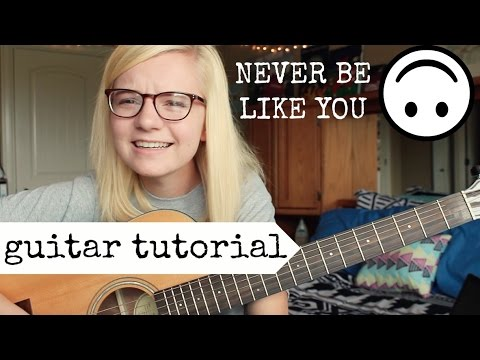 Never Be Like You feat. Kai - Flume | EASY GUITAR TUTORIAL