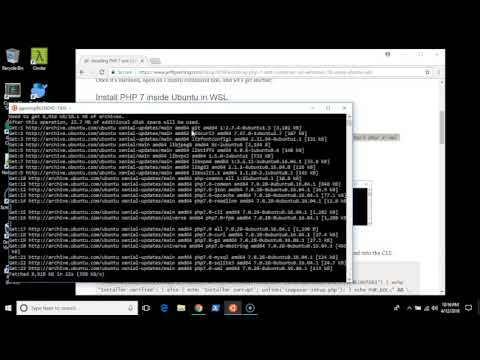 Installing PHP 7 and Composer on Windows 10, Using Ubuntu in WSL