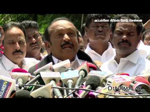 VIP's in Chennai Apollo Hospital to Meet Tamilnadu Chief Minister J.Jayalalithaa