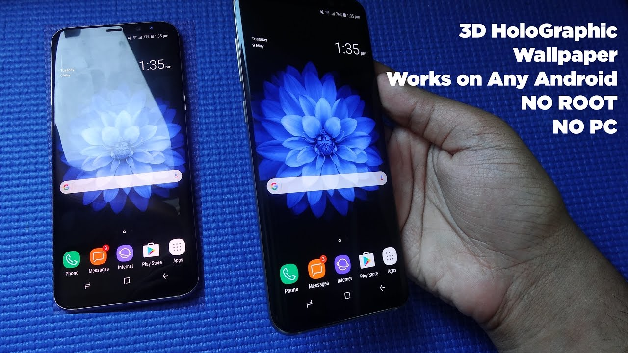 Download 3d Holographic Wallpapers For Samsung Galaxy S8 And S8 Youtube