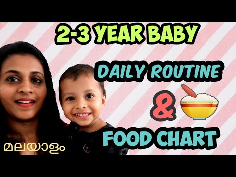 2 – 3 Year Old Baby Daily Routine, Diet Plan and Food Chart in Malayalam