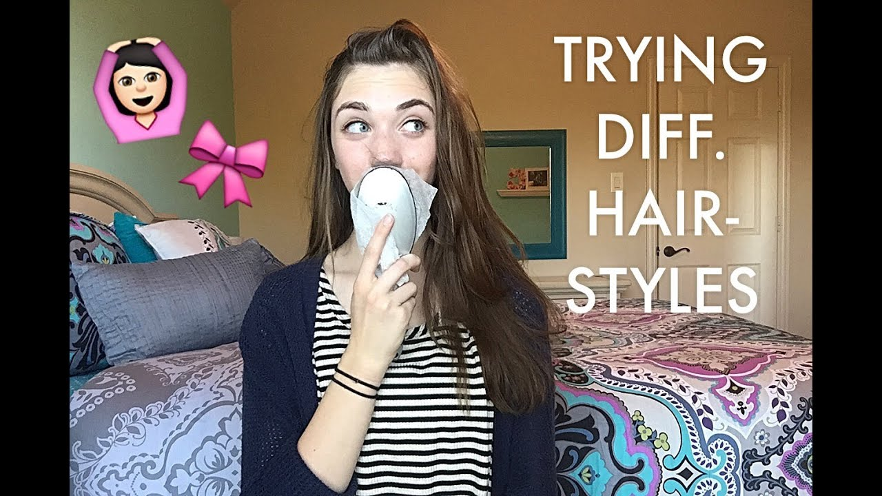Trying Different Hairstyles | Chloe Cray - YouTube