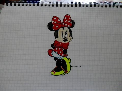 Как нарисовать МИННИ МАУС #109 / How to draw MINNIE MOUSE