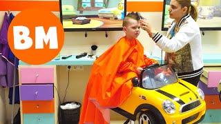 ВМ: Стрижка в детской парикмахерской | Haircut in the children's hair saloon