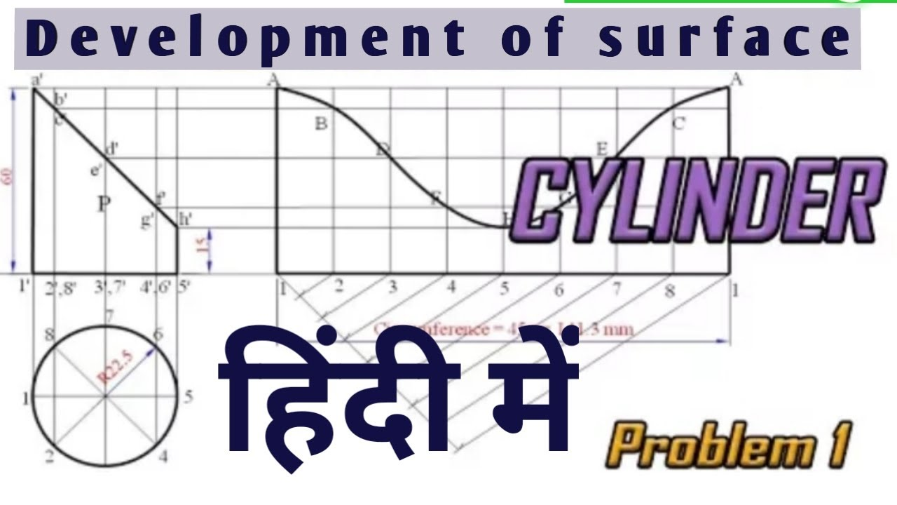 Development of surface of cylinder (problem#1) for ...