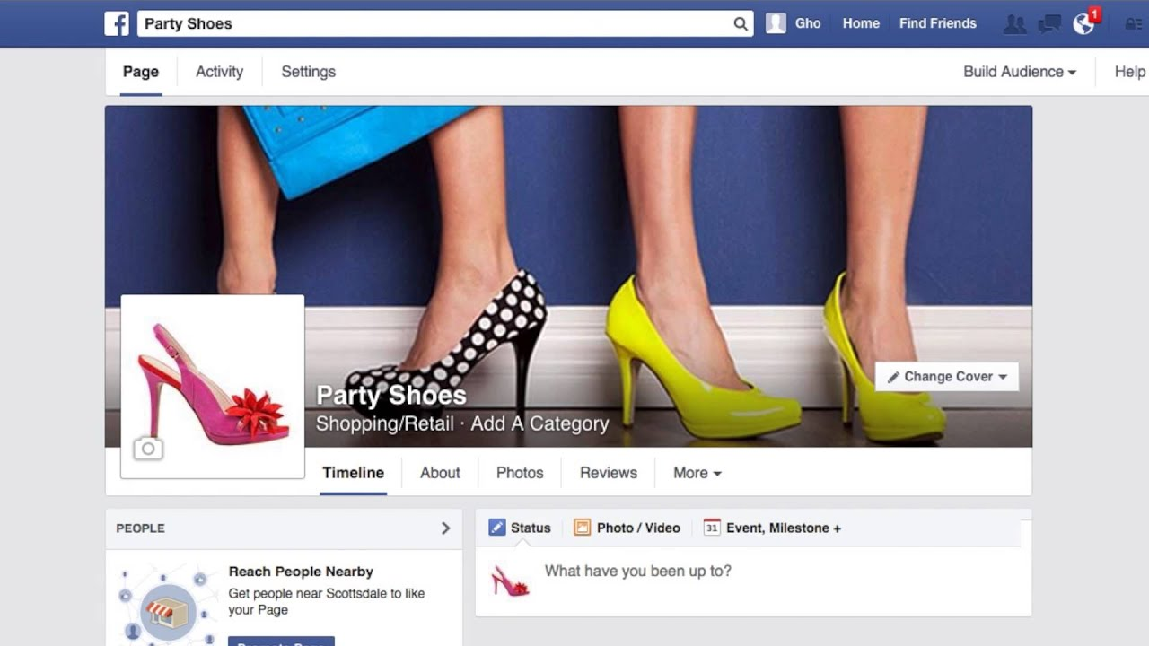 How to use your facebook page with online store from for Homepage shop