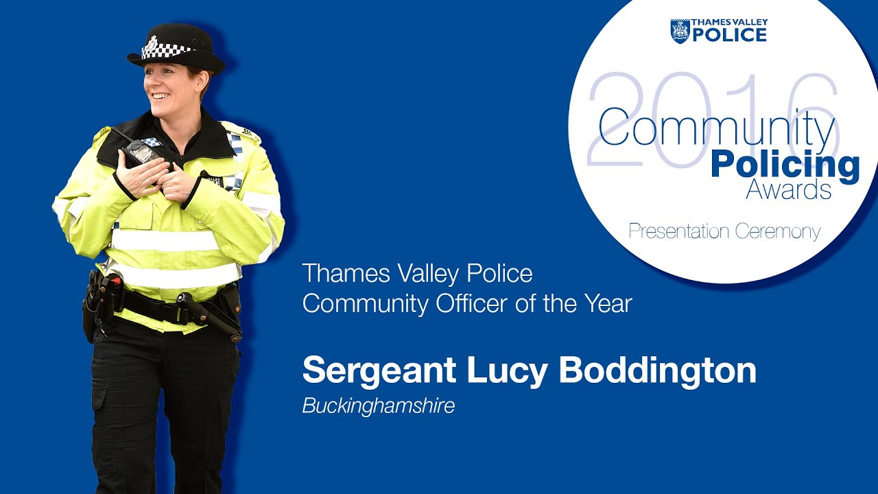 Winner of Community Officer 2016 - Lucy Boddington - Community Policing  Awards