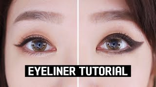 EYELINER TUTORIAL FOR BEGIΝNERS | DOS & DON'TS