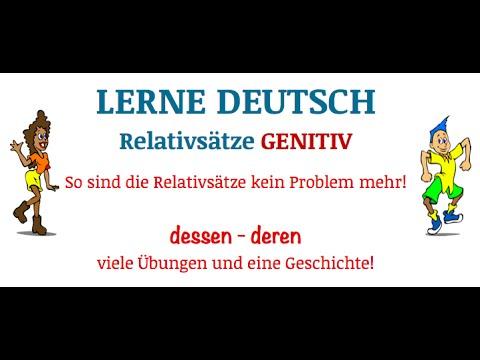 lerne deutsch relativstze teil 3 genitiv dessenderen youtube - Relativsatze Beispiele