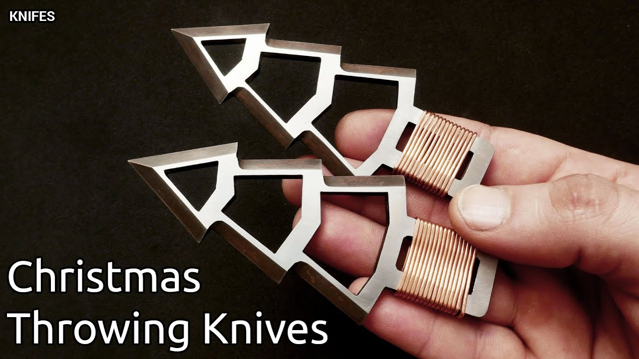 Knife Making - Christmas Throwing Knives | GIVEAWAY