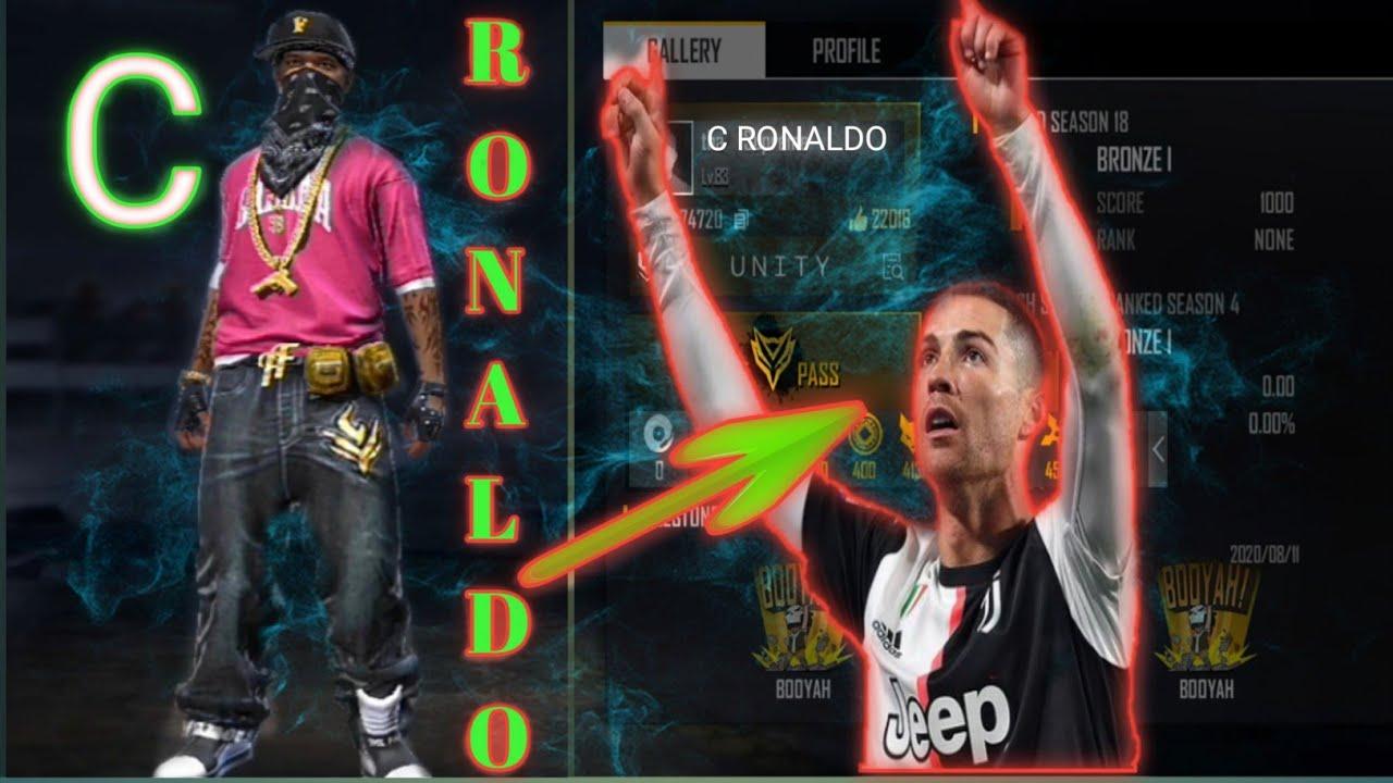 Free Fire Cristiano Ronaldo Band Ff Id Youtube