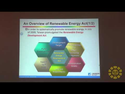 Green Energy Promotion Policies and Industry Development in Taiwan - MBA Tom Wu