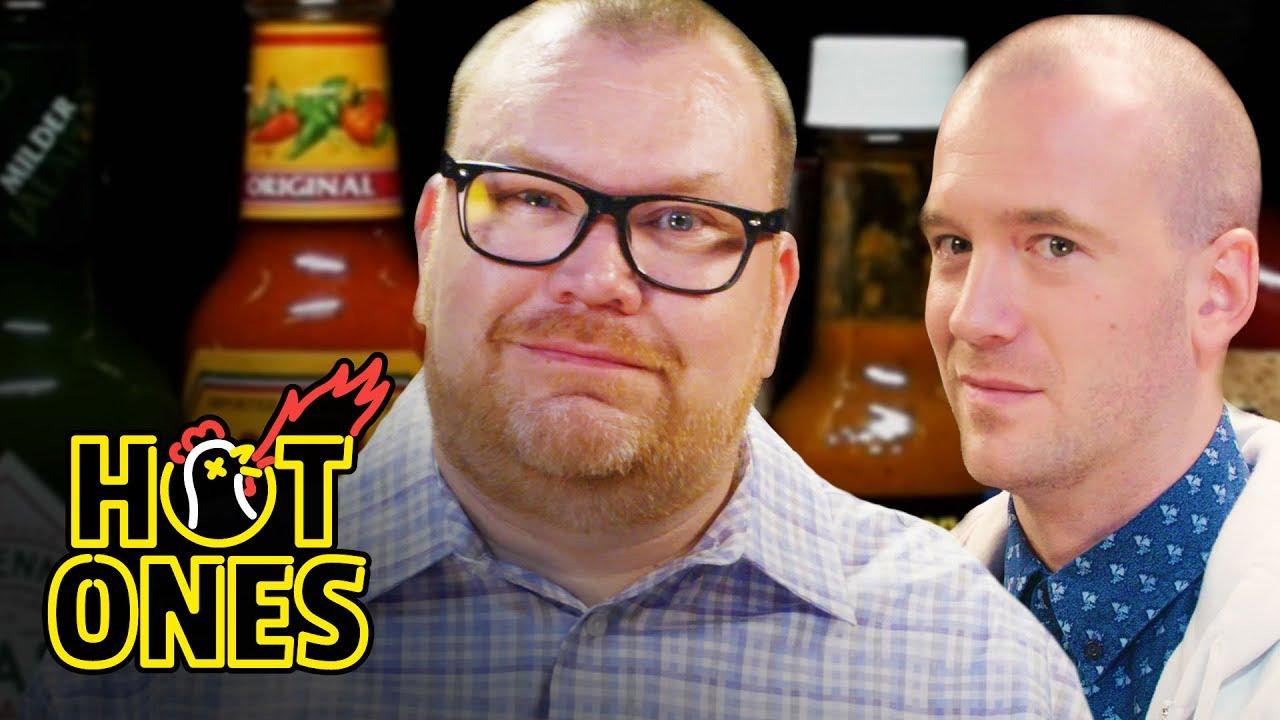 Superfan Brett Baker Grills Sean Evans Over Spicy Wings Hot Ones