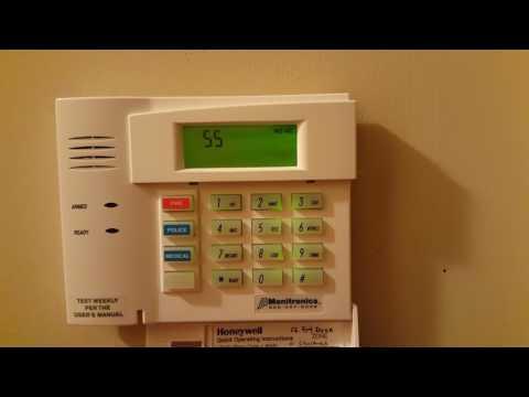Honeywell Monitronics Moni 6150RF Alarm System clearing FC Code with Programming Mode