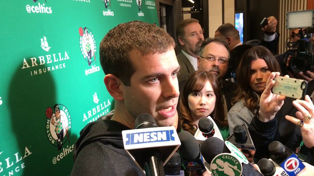 35b5f1602 Boston Celtics coach Brad Stevens discusses Kyrie Irving's injury, prognosis