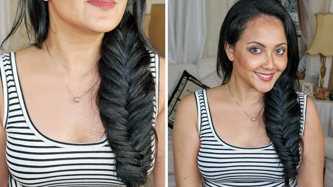 How to fishtail braid with clip in hair extensions everyday how to fishtail braid with clip in hair extensions everyday hairstyle youtube pmusecretfo Images