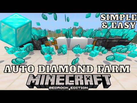 Automatic Diamond Farm For Minecraft Bedrock Edition 1.16.201 Realms/PC/PS4/XBOX/MCPE/Windows 10/PS5