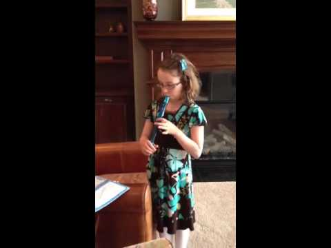Erin playing the recorder