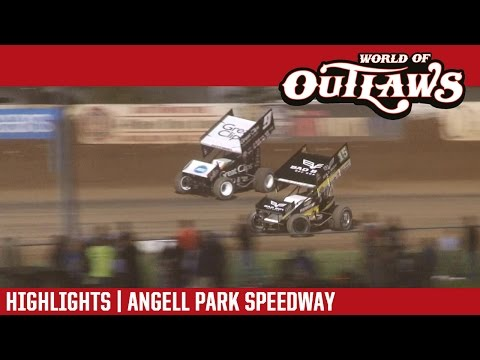 World of Outlaws Craftsman Sprint Cars Angell Park Speedway August 21st, 2016 | HIGHLIGHTS