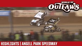 World of Outlaws Craftsman Sprint Cars Angell Park Speedway Highlights