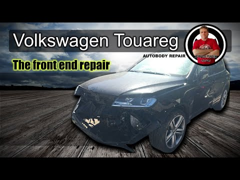 VW Touareg. The front end repair. Ремонт переда.