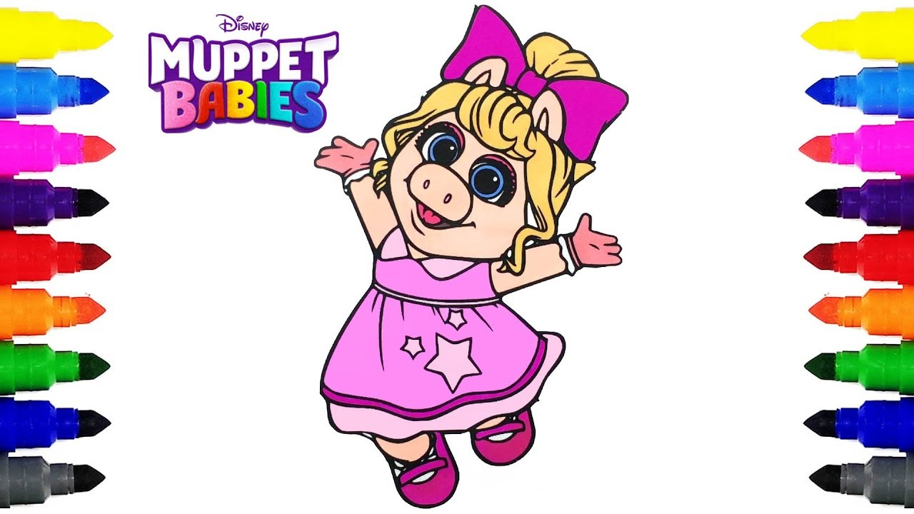 Muppet Babies Miss Piggy Disney Junior Coloring Pages for