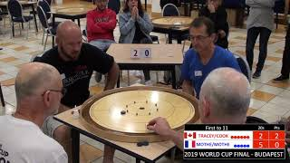 2019 Crokinole Cook/Tracey v Mothe/Mothe - World Cup - Budapest Doubles Final