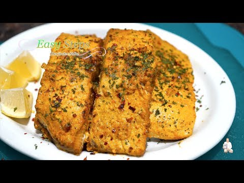 Oven Roasted Fish | Crispy Oven Baked Salmon Fish Recipe