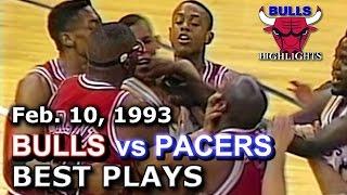 February 10 1993 Bulls vs Pacers highlights