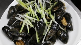 Muscles in black bean sauce