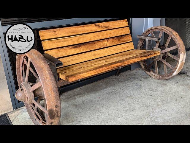 Habu Steam Wagon Wheel Bench Youtube
