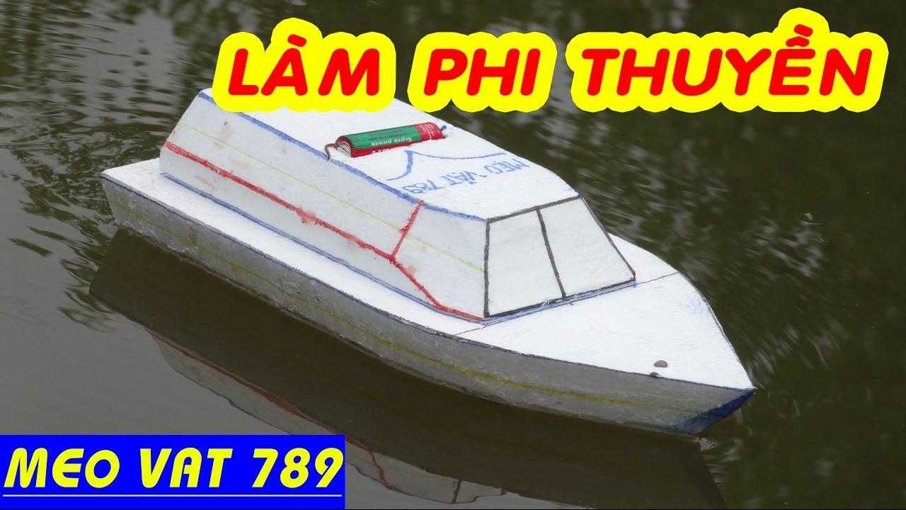 Cách làm PHI THUYỀN ĐỒ CHƠI cực ngầu – DIY toy boat