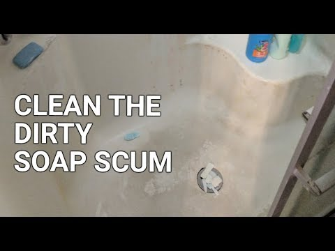How to remove and clean soap scum build up in a shower
