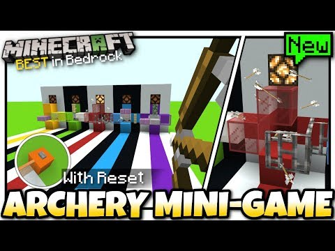 Minecraft - ARCHERY MINI-GAME [ Redstone Tutorial ] MCPE / Bedrock / Xbox / Switch thumbnail