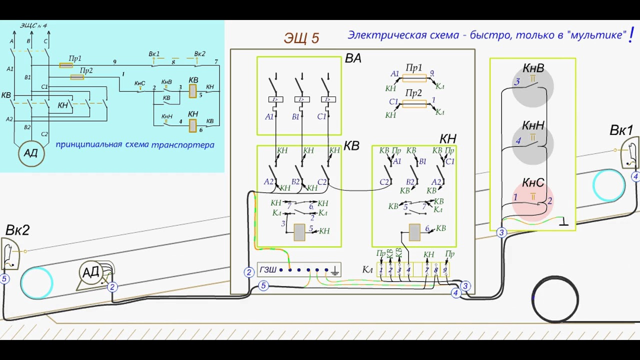 схемы включения асинхронного двигателя