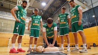 Nachwuchssportler des SC DHfK Leipzig werden zu Lebensrettern