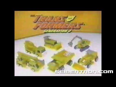 Transformers G2 Constructicons Devastator commercial Generation 2 1993