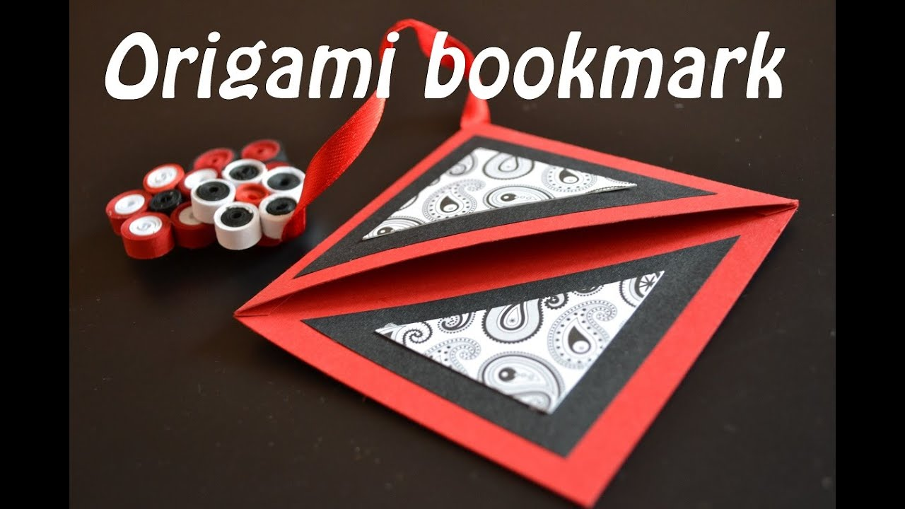 Easy Origami Tutorials Paper Corner Bookmark Handmade