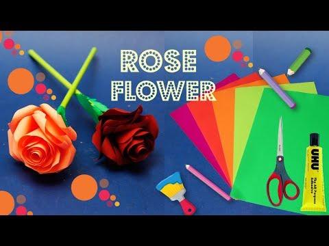 "How To Make Tissue Paper Rose Flower ""Romantic Rose Flower"" | #TissuePaperFlower"