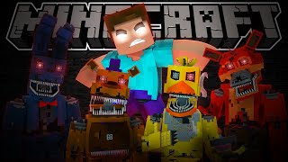 SI ME ASUSTO, TERMINA EL VÍDEO... 😨🎃 FIVE NIGHTS WITH HEROBRINE [FNAF EN MINECRAFT]