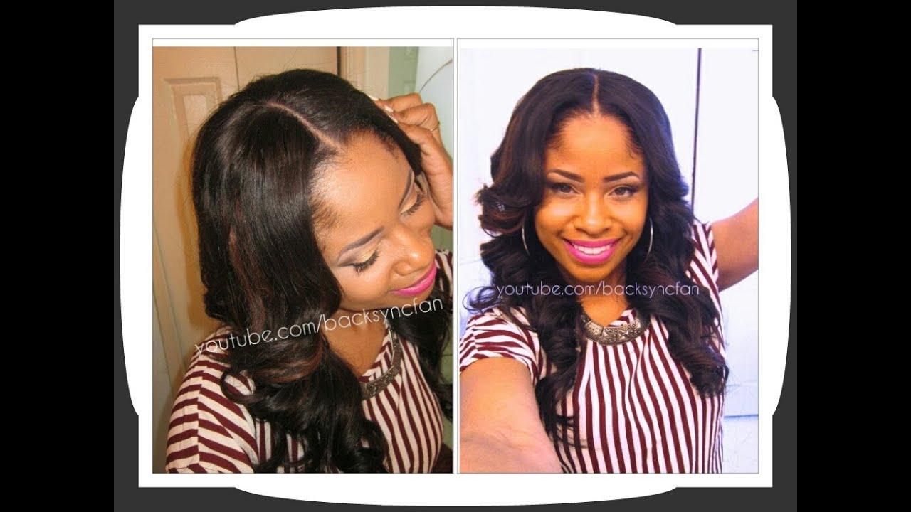 ... Lace Closure & U-Part Wig Application (NO SEW, NO GLUE) - YouTube