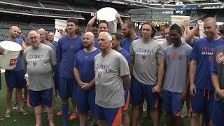 Mets take the Ice Bucket Challenge from the Jets