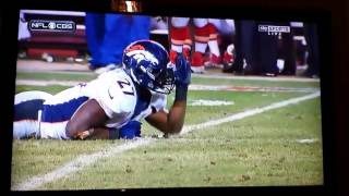 Knowshon Moreno Army Crawling against Chiefs (Includes Crying Footage)