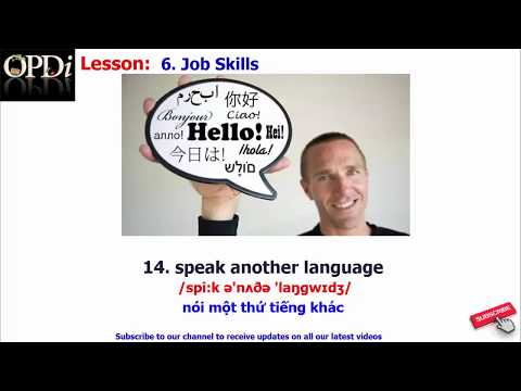 Oxford dictionary - 6. Job Skills - learn English vocabulary with picture